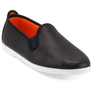 Black leather Madrid Leather Slip-On (size 6)